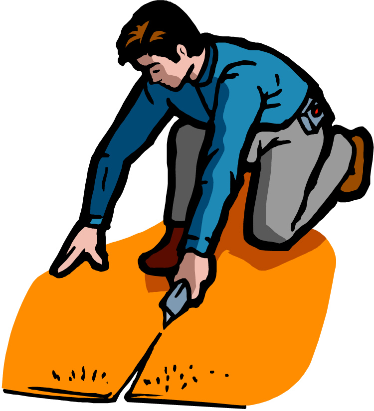 Woman laying carpet installer clipart black and white clip library Carpet Installer Cliparts - Making-The-Web.com clip library