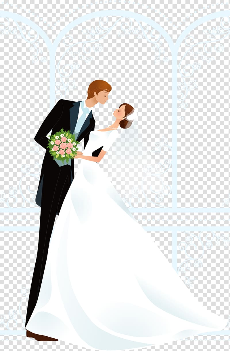 Woman married clipart banner royalty free Man and woman wedding , Wedding invitation Bridegroom ... banner royalty free
