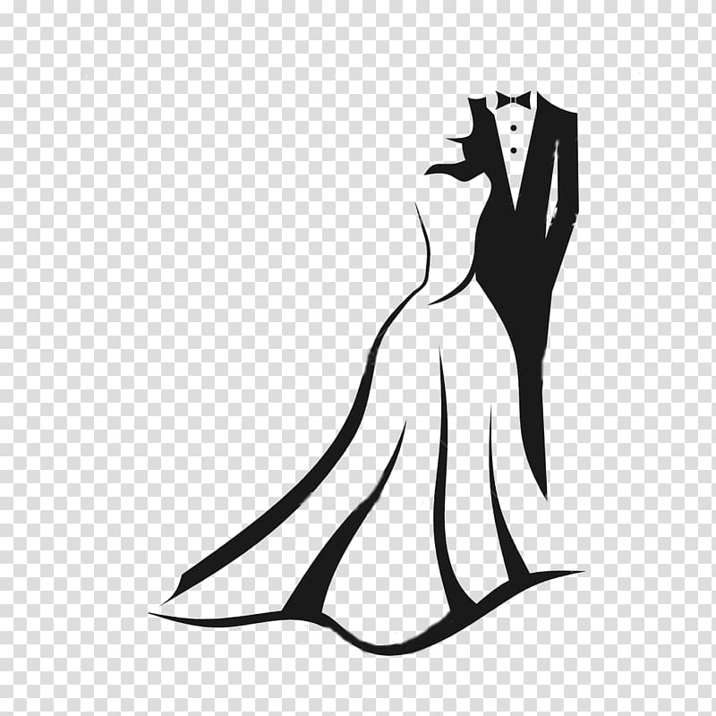 Woman married clipart svg Man and woman formal attire silhouette illustration, Wedding ... svg