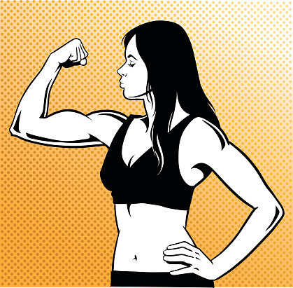 Woman muscle clipart png transparent stock Woman with black and white muscle clipart - Clip Art Library png transparent stock