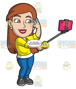 Woman nice clipart picture transparent stock A Nice Lady Posing For A Selfie picture transparent stock