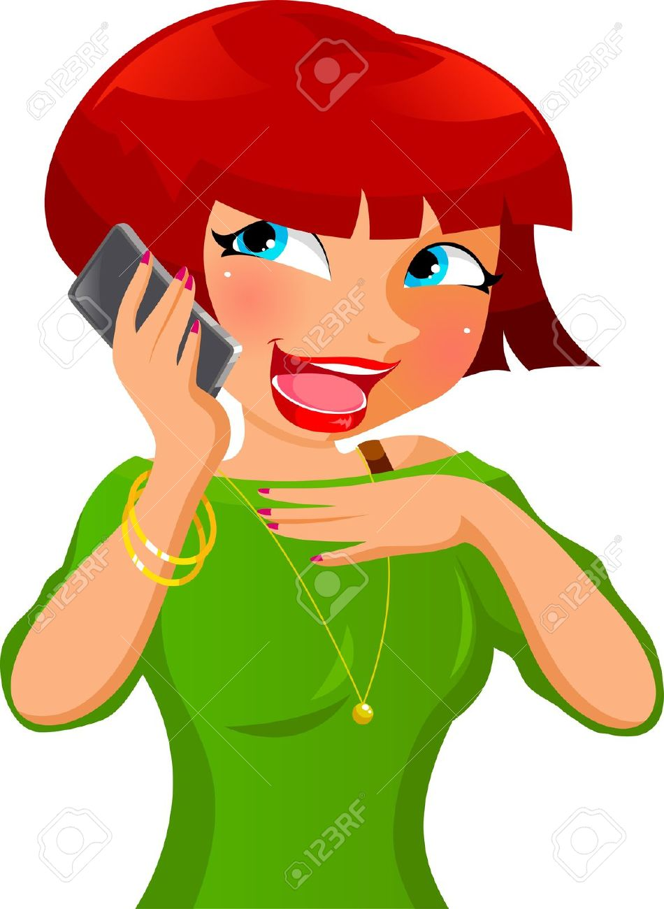 Woman on cell phone clipart free banner free Cartoon Pictures Of Cell Phones | Free download best Cartoon ... banner free