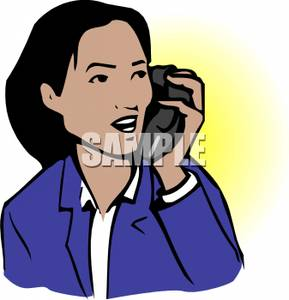 Woman on cell phone clipart jpg download An Asian Woman Talking on a Cell Phone - Clipart jpg download