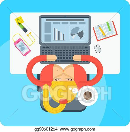 Woman on top clipart