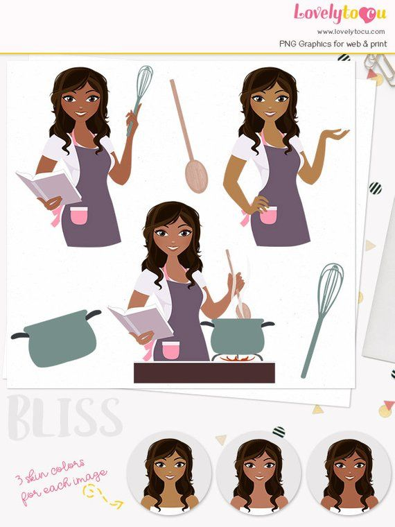 Home cooking clipart png royalty free download Cooking woman character clipart, kitchen cook book, girl ... png royalty free download
