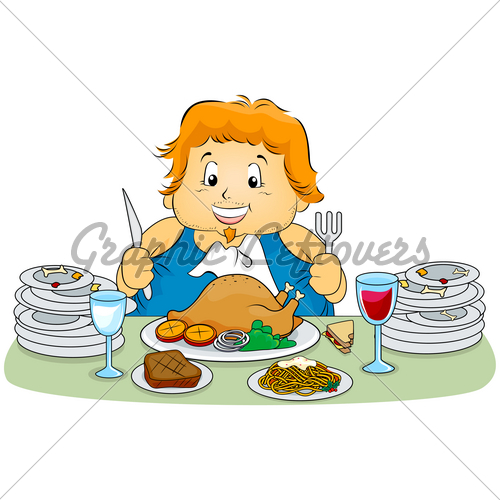 Woman overeating clipart clip Overeating · GL Stock Images clip