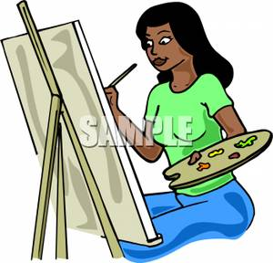 Woman painting clipart png free Woman Painting Clipart #1 | Clipart Panda - Free Clipart Images png free