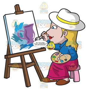 Woman painting clipart png transparent A Woman Painting Abstract Art png transparent