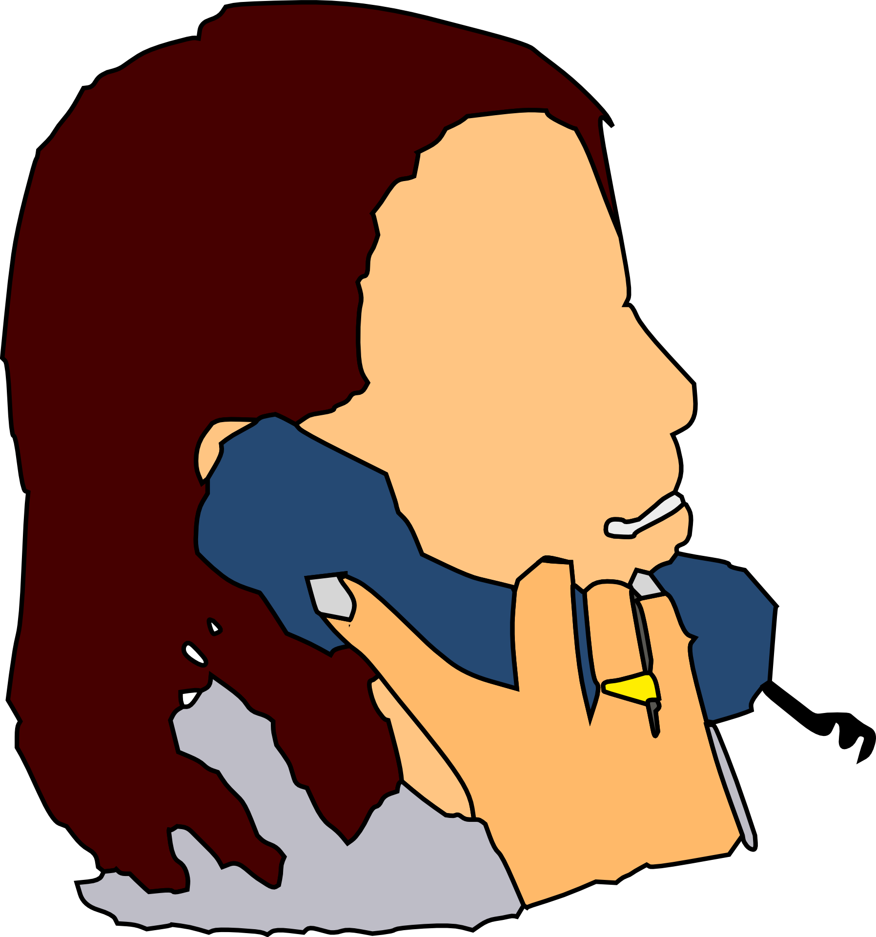 Woman phone clipart picture free stock Woman is talking on the phone clipart free image picture free stock
