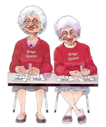 Woman playing bingo clipart clip art freeuse stock new bingo sites uk | couples | Friends illustration, Old ... clip art freeuse stock