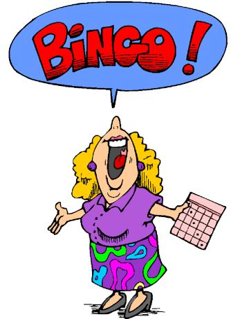Woman playing bingo clipart svg library library People playing bingo clipart image #38624 svg library library