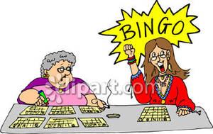 Woman playing bingo clipart clip art black and white library Women playing bingo free clipart picture image #38636 clip art black and white library