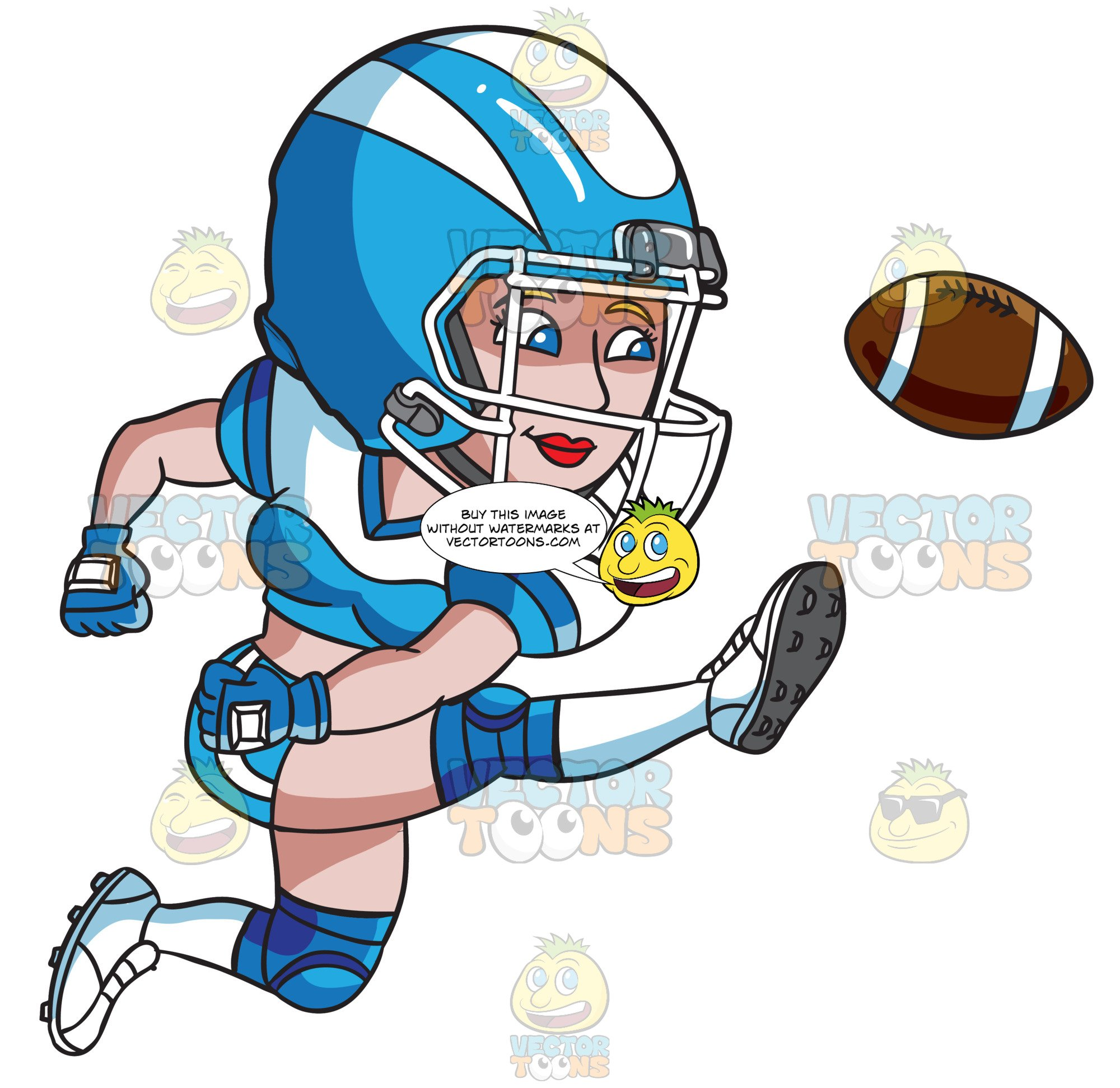 Woman playing football clipart picture transparent stock A Female Football Player Kicking The Ball picture transparent stock