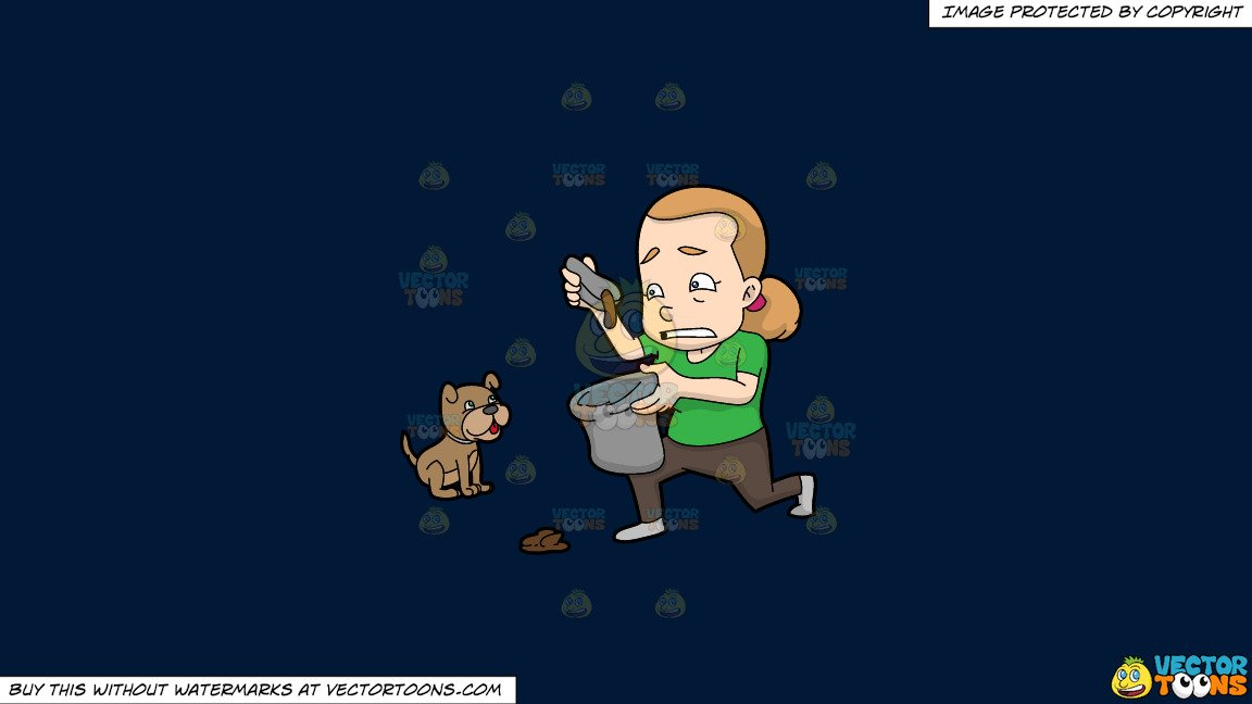 Woman pooping clipart clipart download Clipart: A Woman Placing Dog Poop In A Trash Bag on a Solid Dark Blue  011936 Background clipart download