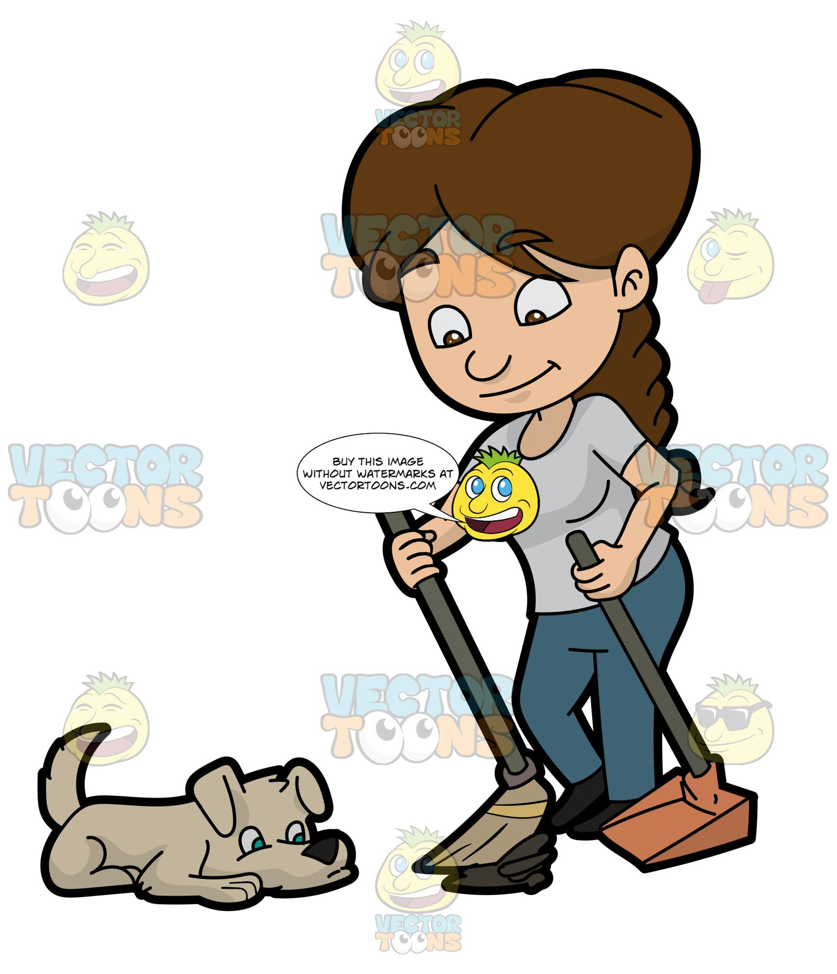 Woman pooping clipart png black and white library A Woman Cleaning The Poop Of Her Dog png black and white library