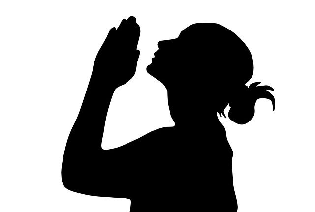 Woman praying clipart free png black and white stock Free Image on Pixabay - Woman Praying, Prayer | stencils ... png black and white stock