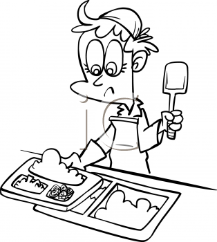 Woman preparing lunches clipart vector black and white library Free Lunch Ladies Clipart, Download Free Clip Art, Free Clip ... vector black and white library