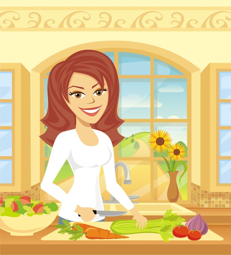 Woman preparing lunches clipart graphic transparent library 5 DAY LUNCH graphic transparent library