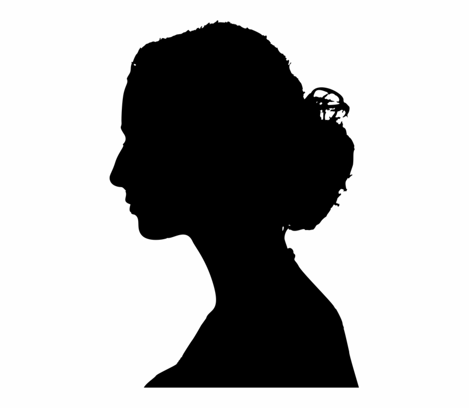 Woman profile clipart graphic black and white download Female Woman Profile Abstract Art Girl People - Profile ... graphic black and white download