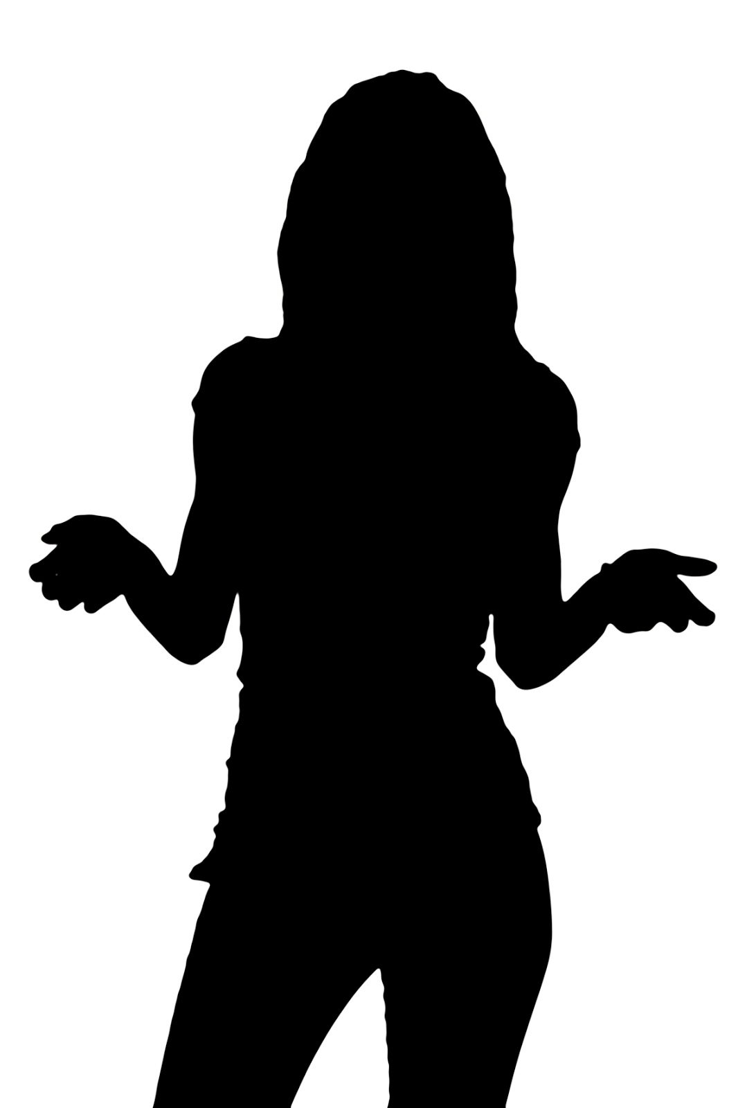 Woman questioning clipart royalty free download Free Female Silhouette, Download Free Clip Art, Free Clip ... royalty free download
