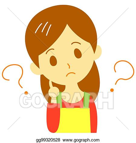 Woman questioning clipart download Stock Illustration - Thinking woman. Clipart gg99320528 ... download
