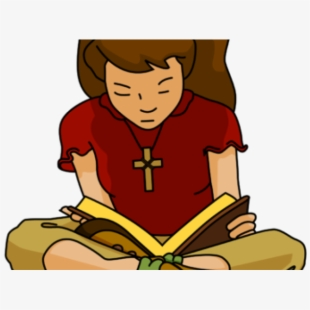 Woman reading the bible clipart clipart freeuse library Bible Clipart Girl - Boy Reading Bible Clipart #362003 ... clipart freeuse library