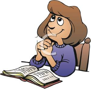 Woman reading the bible clipart banner royalty free download A Woman Reading Her Bible and Praying - Royalty Free Clipart ... banner royalty free download