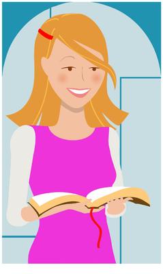 Woman reading the bible clipart clip transparent stock Image: Teenage Girl reading Bible | Bible Clip Art ... clip transparent stock
