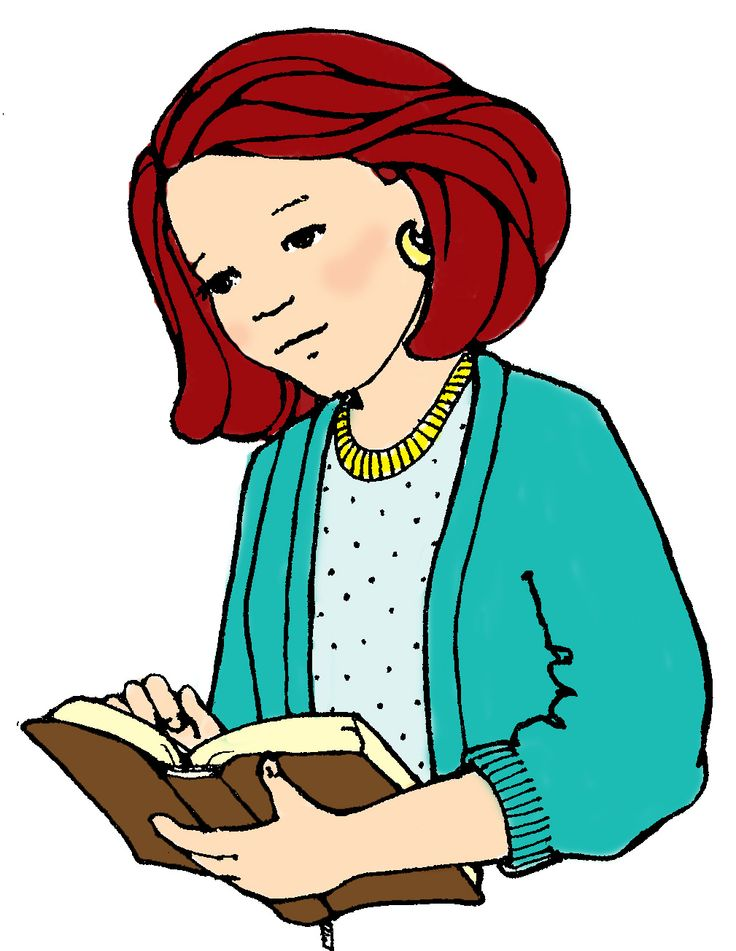 Woman reading the bible clipart png library library Study Clipart Black And White | Free download best Study ... png library library
