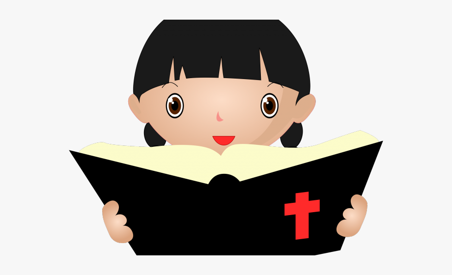 Woman reading the bible clipart black and white library Scripture Clipart Girl - Bible Reading Icon Png #1715654 ... black and white library