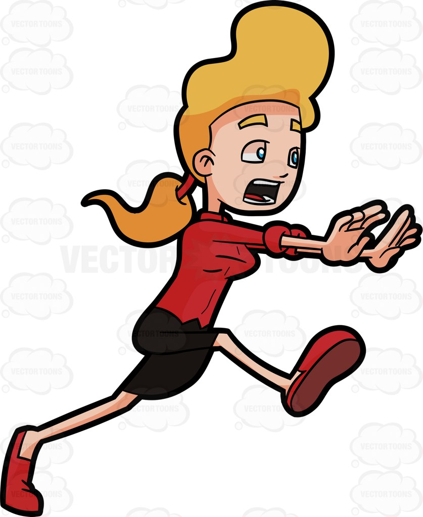Woman running away clipart clip art freeuse download Running Images Cartoon   Free download best Running Images ... clip art freeuse download