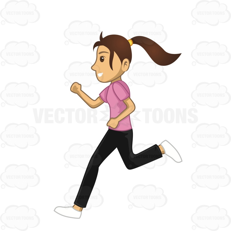 Woman running away clipart clipart black and white library People Running Away Clipart   Free download best People ... clipart black and white library