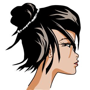 Woman s face clipart clip transparent download Drawn Woman\'s Face - 002b - Color clipart, cliparts of Drawn ... clip transparent download