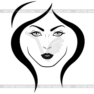 Woman s face clipart banner freeuse library Logo of woman`s face - vector clip art banner freeuse library