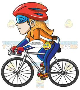 Woman s orange bicycle clipart picture freeuse library A Woman Competing In A Cycling Tournament picture freeuse library