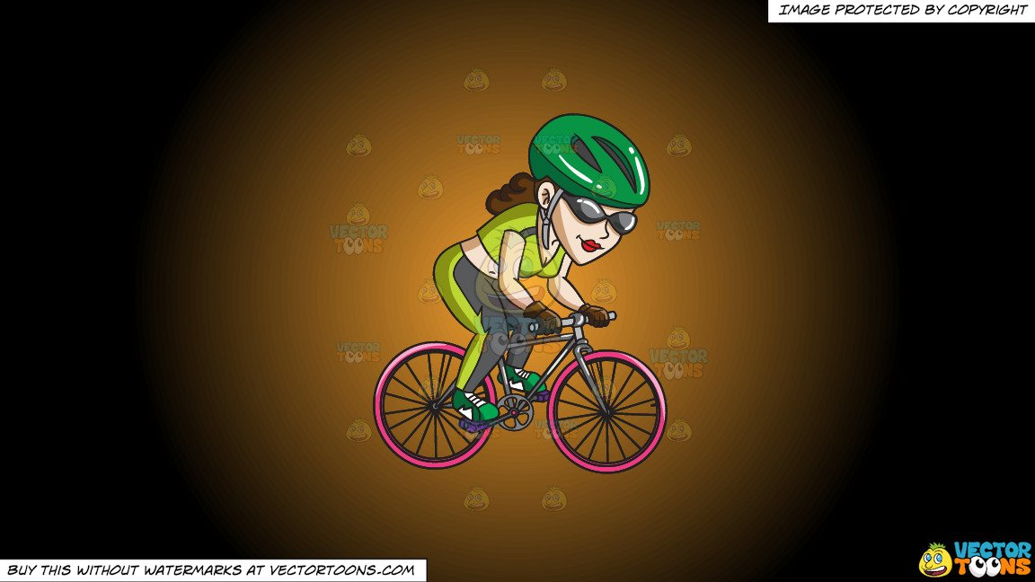 Woman s orange bicycle clipart svg library stock Clipart: A Woman Riding Her Cool Mountain Bike on a Orange And Black  Gradient Background svg library stock