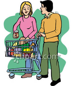 Woman shopping in supermarket clipart picture free library A Man and a Woman Shop Together In a Supermarket Royalty ... picture free library