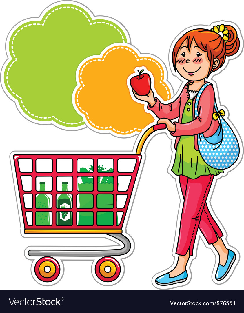 Woman shopping in supermarket clipart graphic freeuse Shopping woman graphic freeuse