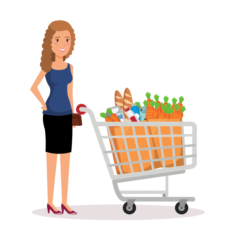 Woman shopping in supermarket clipart graphic royalty free Shopping Lady Clipart on ClipArtMag.com graphic royalty free