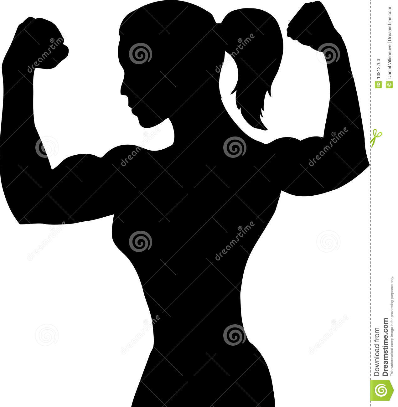 Woman showing muscle clipart svg library library Female Flexing Clipart - Clipart Kid svg library library