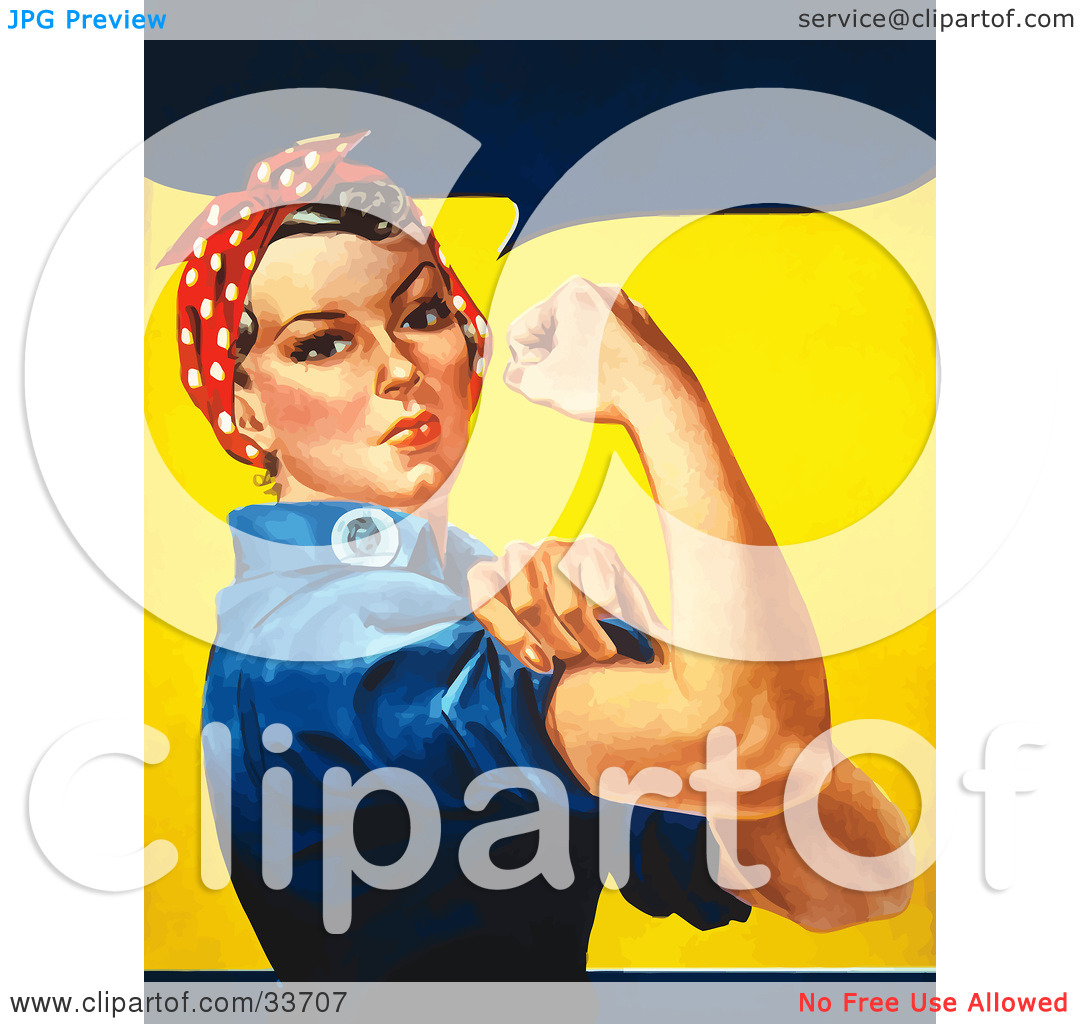 Woman showing muscle clipart vector stock Woman showing muscle clipart - ClipartFest vector stock