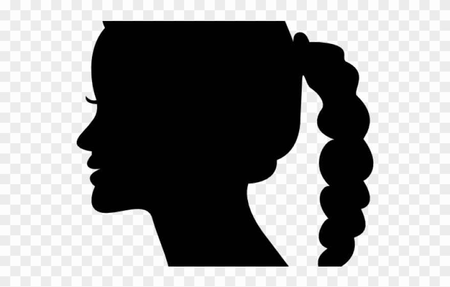 Woman side face clipart clipart free stock Dark Hair Clipart Side Profile Woman - Side View Face ... clipart free stock