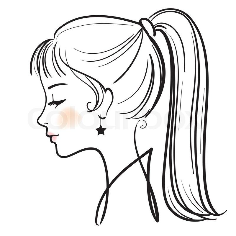 Woman side face clipart free library Cartoon Girl Face Side View | T_Face/head/hair reference in ... free library