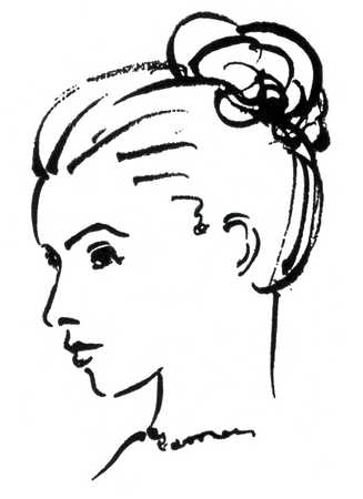 Woman side view face clipart jpg freeuse library Side Sketch at PaintingValley.com   Explore collection of ... jpg freeuse library