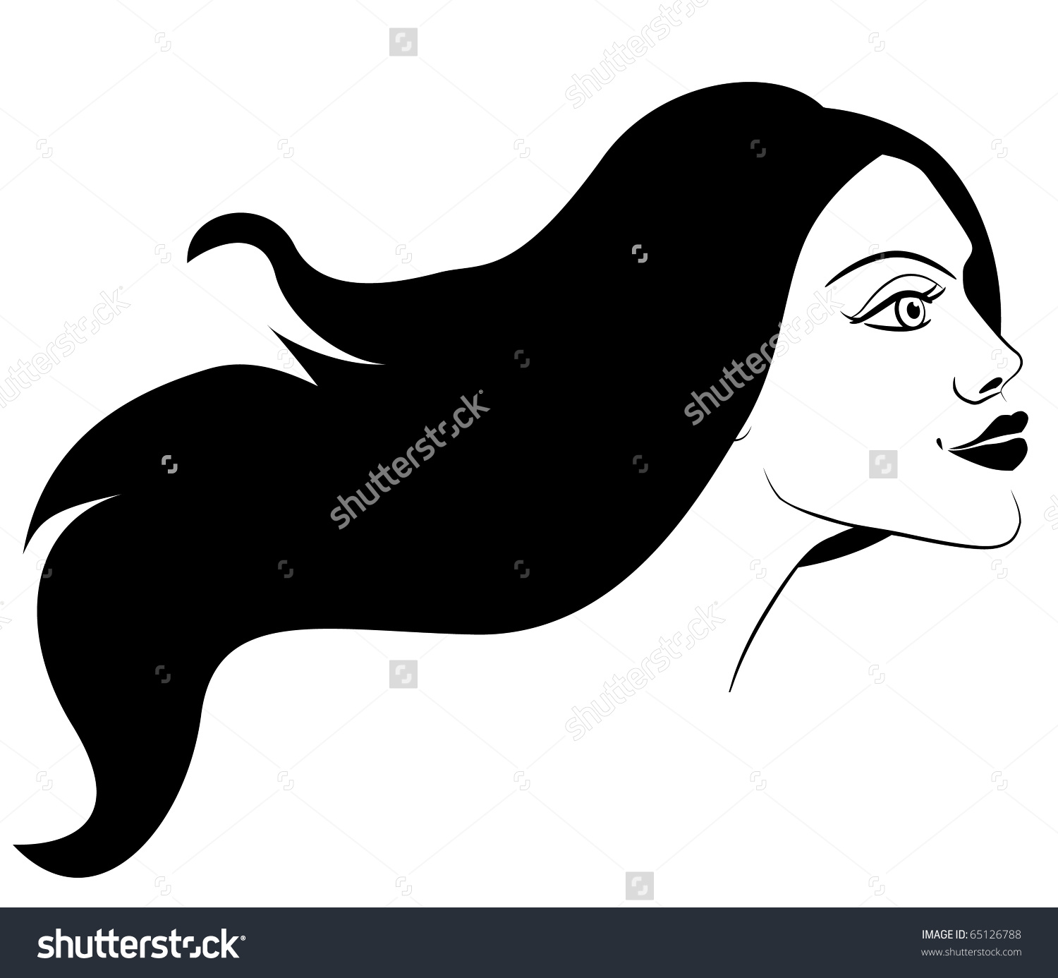 Woman side view face clipart png royalty free stock Side View Face Silhouette Clip Art (48 ) - Free Clipart png royalty free stock