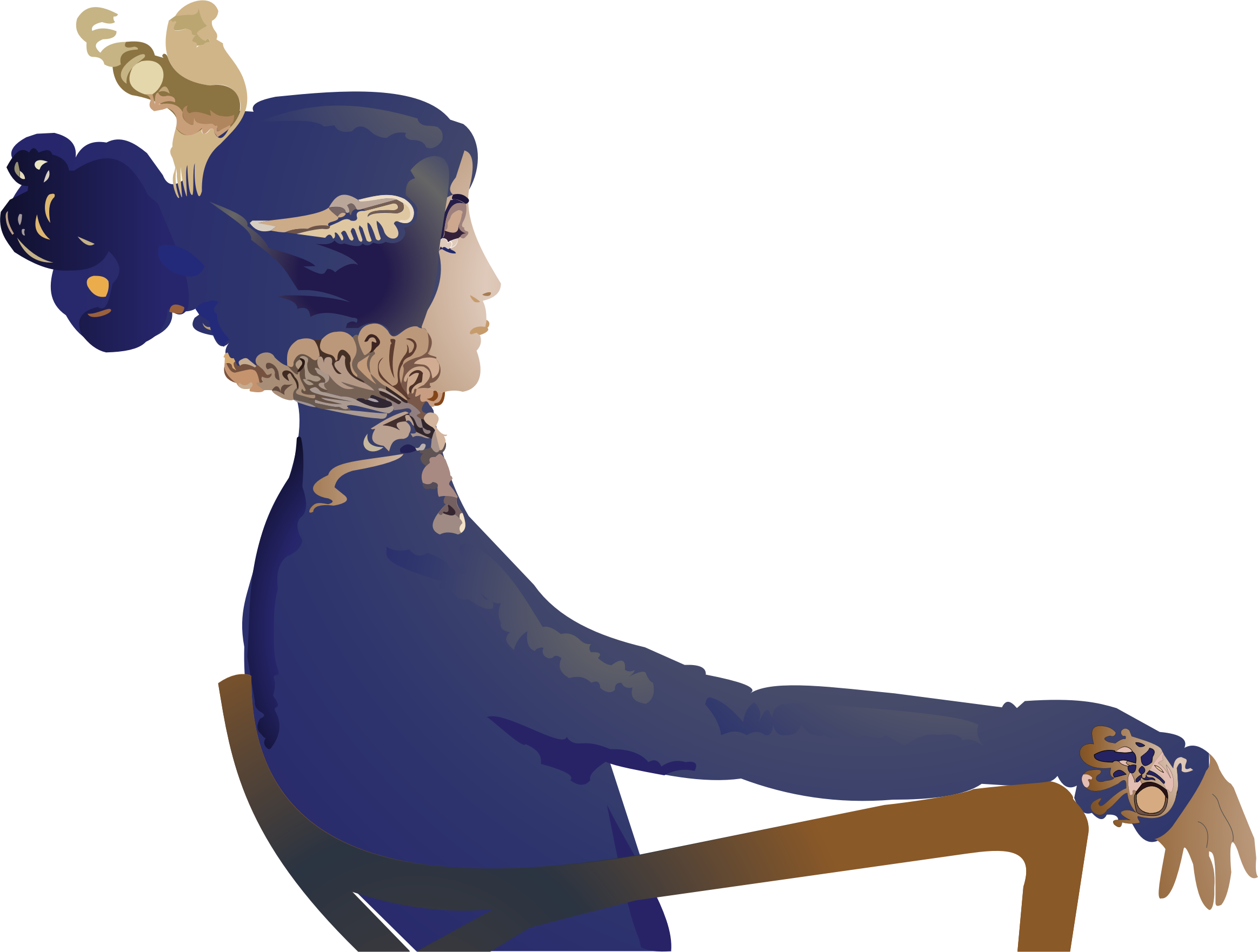 Woman sittnig in a chair with crown clipart clipart transparent stock Clipart - Woman Sitting In Chair clipart transparent stock