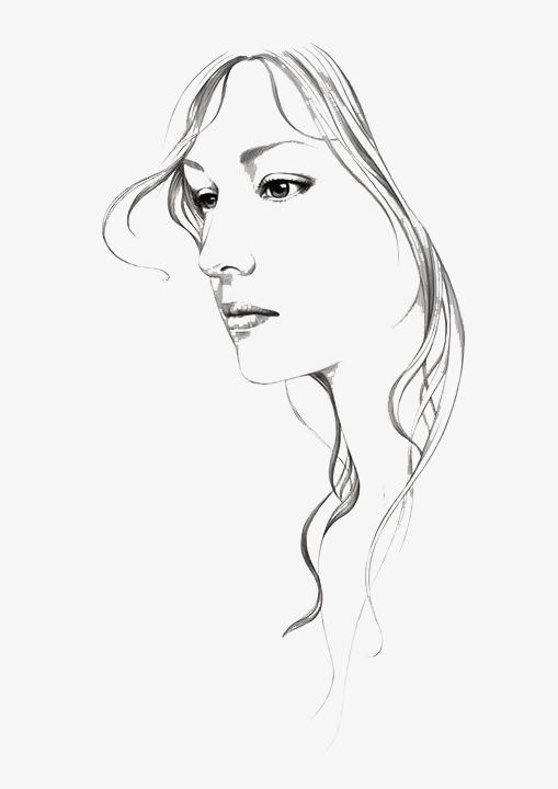 Woman sketch clipart image royalty free Woman Sketch at PaintingValley.com | Explore collection of ... image royalty free