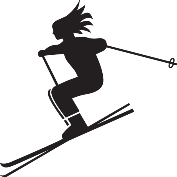 Woman skiing clipart svg stock 440GA - Woman skiing | Paint me inspiration | Skiing ... svg stock