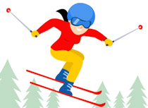 Woman skiing clipart graphic free 90+ Skiing Clipart | ClipartLook graphic free