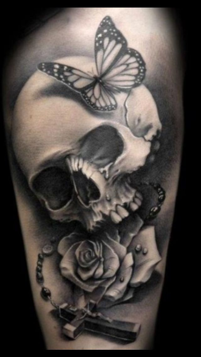 Woman skull tattoo clipart black and white picture freeuse stock skull tattoos for women girl skull tattoos gothic tattoos ... picture freeuse stock